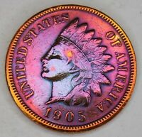 1905 INDIAN HEAD PENNY CENT COIN,BEAUTIFUL VINTAGE COIN