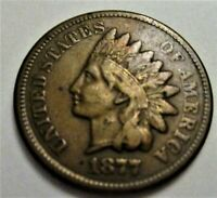 1877 INDIAN HEAD CENT. RAW UNCERTIFIED & CIRCULATED. EF COND