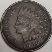 1900 INDIAN HEAD CENT, EXTRA FINE  EXTRA FINE DETAILS, SHIPS FREE DAILY