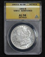 1903 MORGAN DOLLAR VAM-3 DOUBLED 3 SCRATCHED 1PSO