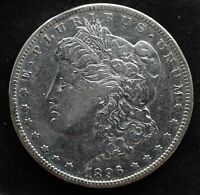 KAPPYSCOINS G2907 1896S EF EXTRA FINE  CLEANED MORGAN SILVER DOLLAR AT A SPECIAL PRICE