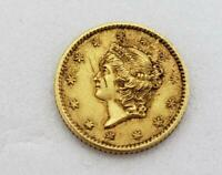 1852 US TYPE 1 GOLD $1 SCRATCHES ON OBVERSE L10584