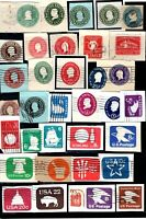 U.S. 34 ENVELOPE STAMPS USED 1 CENT  22 CENT GOOD PRICE.