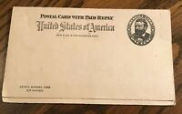 UNITED STATES REPLY POSTAL CARD UY1 UNUSED NOT MINT UNSEVERE