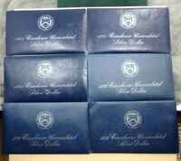 1971 S 1972 S IKE EISENHOWER 40 SILVER UNCIRCULATED DOLLAR COIN LOT OF 6 SETS