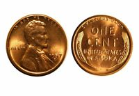 1957-D  LINCOLN CENT - RPM-016 UNCIRCULATED RED  5566