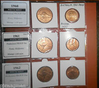 WOW PERTH MINT PROOF SET 1956 TO 1962 PENNY & HALF PENNY