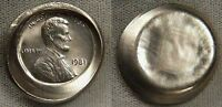 1981  CENT ON NICKEL  PLANCHET    UNIQUE AND SUPPOSEDLY  IMPOSSIBLE