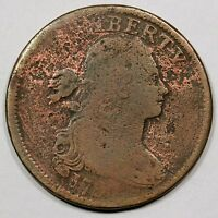 1797 S-133 R-5 DRAPED BUST LARGE CENT COIN 1C