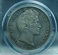 GERMAN STATES BAVARIA 2 THALER 3 1/2 GULDEN 1846 COMPLETION OF CANAL PCGS AU