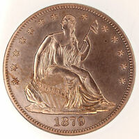1879 PROOF 50C PR 60 HALF DOLLAR SILVER COIN SEATED LIBERTY ICG US  DATE!