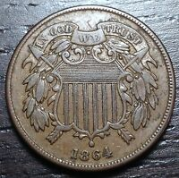 1864 2 CENT PIECE      MAKE US AN OFFER!  Y1504