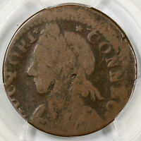 1787 11.2 K PCGS VG 08 MAILED BUST LEFT CONNECTICUT COLONIAL COPPER COIN