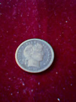 1899 P BARBER SILVER DIME10C  VF  APPEALING!!!