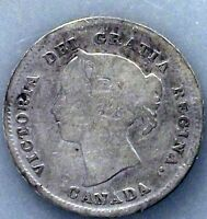 1888 CANADA 5 CENTS KM2