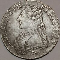 G499 ECU LOUIS XVI BR OLIVIERS 1784 R ORLANS SILVER ARGENT    F OFFRE