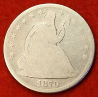 1870 P SEATED LIBERTY HALF DOLLAR G BEAUTIFUL COIN CHK OUT STORE   $ SH30
