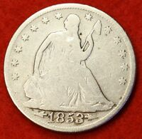 1853 P SEATED LIBERTY HALF DOLLAR VG BEAUTIFUL COIN CHK OUT STORE   $ SH26