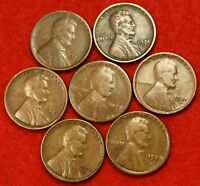 1920S 1921S 1924S 1925S 1927S 1928S 1929S  LINCOLN WHEAT CENT PENNY LW1413
