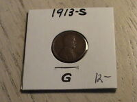 1913 S LINCOLN CENT -  ONE OF THE SEMI-KEY DATES  -  CONDITION  P548 L93