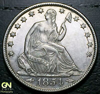 1854 O SEATED LIBERTY HALF DOLLAR      MAKE US AN OFFER!  W1954 ZXCV