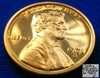 1971 S PROOF LINCOLN CENT DG CAM PL DEEP RED LUSTER !!!!