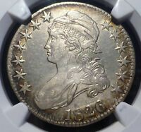 1826 BUST HALF LIGHT TONING NGC ALMOST UNCURCULATED WITH LIGHT CLEANING