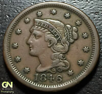 1846 BRAIDED HAIR LARGE CENT     MAKE US AN OFFER!  G1060