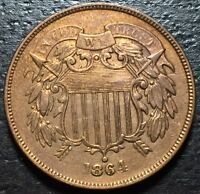 1864 2 TWO CENT PIECE  --  MAKE US AN OFFER  Y4136