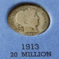 1913  BARBER DIME  WHAT YOU SEE IS WHAT YOU GET! CHEAP