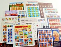 MINT 100  5 X 20  ASSORTED OF MIXED DESIGNS OF 32  US POSTAGE STAMPS. FV $32.00