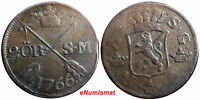 SWEDEN COPPER ADOLF FREDERICK 1766 2 ORE,S.M   KM461