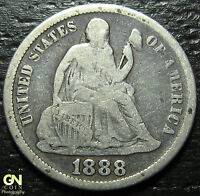 1888 P SEATED DIME      MAKE US AN OFFER!  W2546  ZXCV