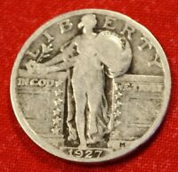 1927-P STANDING LIBERTY QUARTER 90 SILVER COLLECTOR COIN GIFT  $ SL34