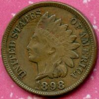 1898 AU 1C INDIAN HEAD CENT