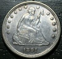 1891 P SEATED LIBERTY QUARTER      MAKE US AN OFFER  G4494