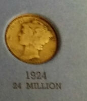 1924 USA MERCURY DIME  WHAT YOU SEE IS WHAT YOU GET CHEAP