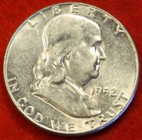 1952 P FRANKLIN  HALF DOLLAR UNC BEAUTIFUL COIN CHECK OUT STORE   $ FH219