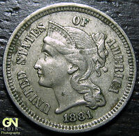 1881 3 CENT NICKEL PIECE      MAKE US AN OFFER  G2200