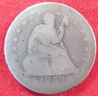 1853 O SEATED LIBERTY QUARTER WITH ARROWS AND RAYS 1932