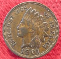 1901 INDIAN HEAD CENT FULL LIBERTY  1717