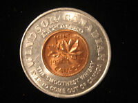 CANADIAN ENCASED COIN GOOD LUCK PENNY 1970 WINDSOR ONTARIO CANADIAN WHISKEY