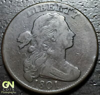 1801 DRAPED BUST LARGE CENT    1/000   S223     MAKE US AN OFFER  G3890