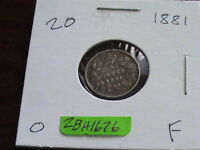 1881 CANADIAN SILVER FIVE CENT COIN       ZBH1676