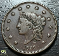 1836 CORONET HEAD LARGE CENT     MAKE US AN OFFER  B1427