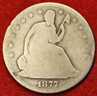 1877 S SEATED LIBERTY HALF DOLLAR AG BEAUTIFUL COIN CHK OUT STORE   $ SH22