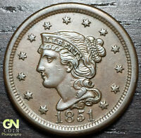 1851 BRAIDED HAIR LARGE CENT N23 R5     MAKE US AN OFFER  O2999