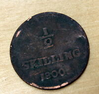 1800 SWEDEN 1/2 SKILLING DAMAGED