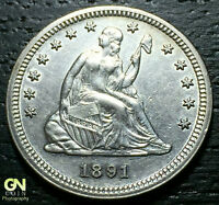 1891 S SEATED LIBERTY QUARTER      MAKE US AN OFFER  G4226