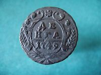 COPPER COIN DENGA 1749.  ELIZABETH PETROVNA 1741 1762  RUSSIAN EMPIRE